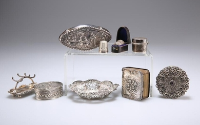 A GROUP OF SILVER, including an Edwardian dressing