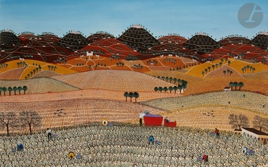 Anne-Marie SABATIER (born in 1947)Les Vendanges, 1979Oilon canvas.Signed and dated lower right.73 x 100 cm