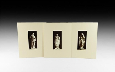 Antique French Albumen Photographs of Statues