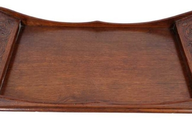 Arthur Simpson of Kendal: arts and crafts carved oak tray