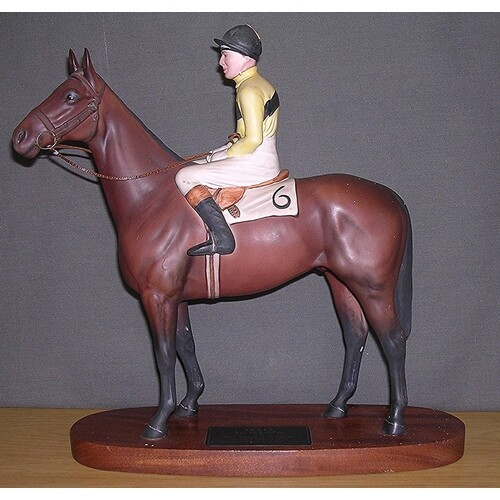 """BESWICK Large 21.7cm MODEL OF THE RACEHORSE """"ARKLE With PAT ..."""