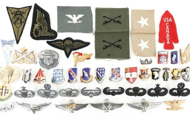 COLD WAR US ARMY AIRBORNE & SF INSIGNIA LOT