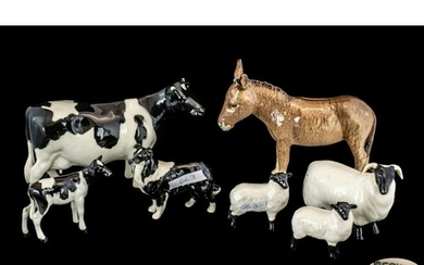 Collection of Beswick Farm Animals, comprising a Donkey No. ...