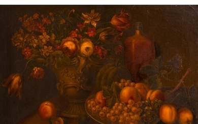 Early 19th Century French School. Still Life of Flowers in a...