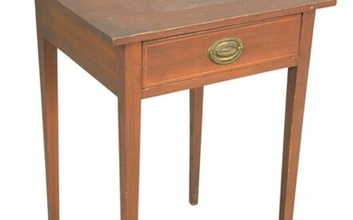 Federal Mahogany One Drawer Stand having inlaid drawer