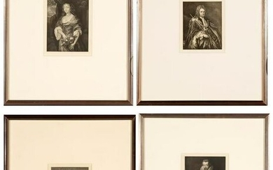 Four Photo Etchings of British Aristocracy