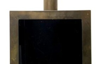 Italian style Gabriella Crespi style. Lamp with brass