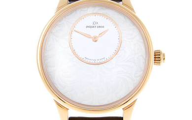 JAQUET DROZ - a limited edition 18ct rose gold Petite Heure Minute Art Deco wrist watch.