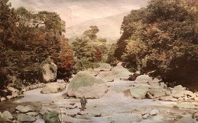 Japanese photographs. Mounted on both sides of heavier paper...