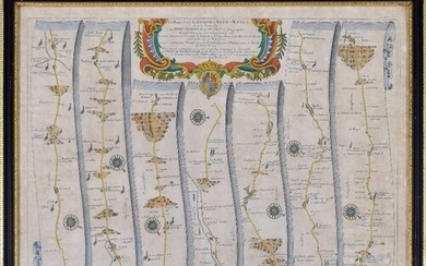 John Ogilby (1600-1676) - 'The Roads From London to Bath &am...