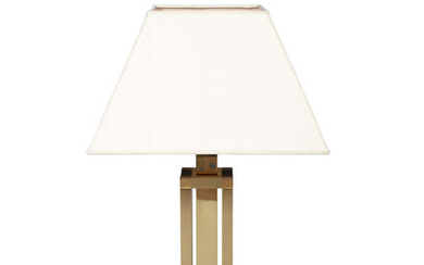 LAMP A brass table lamp, Italy, c.1980. 79cm...