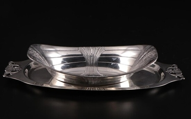 Machester Silver Co. and Watrous Mfg. Co. Sterling Silver Dish and Tray