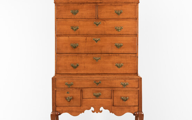 Maple High Chest of Drawers