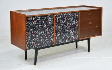 Mid Century Modern Sideboard with Laminate Front & Top