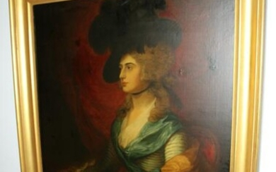 Portrait of Mrs. Siddons, Oil on Canvas