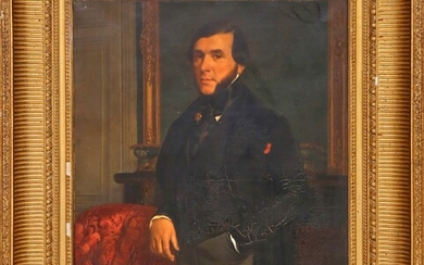 Portrait of Pierre-Charles Dambry Oil on canvas 59 x 49...