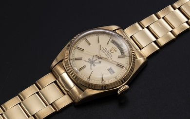 "ROLEX, A YELLOW GOLD OYSTER PERPETUAL DAY-DATE WITH ""KHANJAR"" INSIGNIA, REF. 1803"