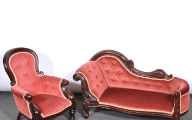 Reproduction child's chair and child's chaise longue