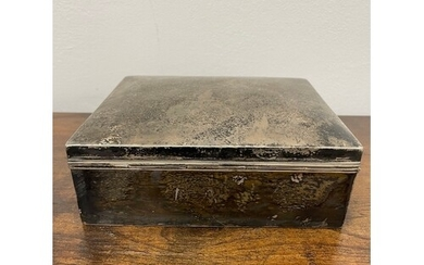 Sterling Silver Cigar Box Full weight 995g includes wood lin...