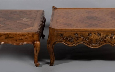 TWO LOUIS XV STYLE COFFEE TABLES