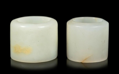 Two White Jade Archer's Rings