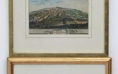 18th century, Two hand coloured engravings, View of