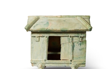A Chinese green-glazed earthenware model of a house, Han dynasty