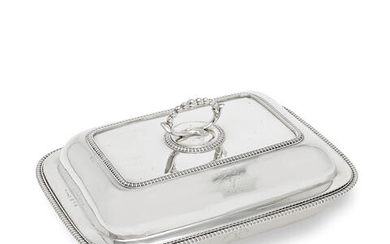 A George III Irish silver entrée dish and cover
