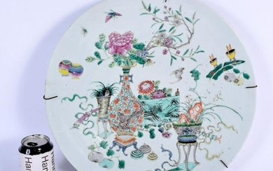 A LARGE 19TH CENTURY CHINESE FAMILLE VERTE PORCELAIN