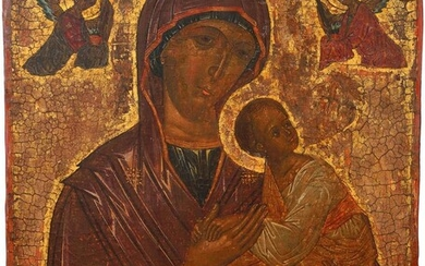 A LARGE ICON SHOWING THE MOTHER OF GOD OF...