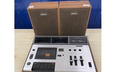 A Sony stereo cassette recorder TC-133, and various other au...