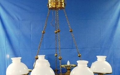 A Victorian Gothic brass Corona Lucis / Chandelier, probably...
