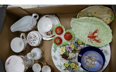A mixed collection of items to include: Carltonware, Aynsley...