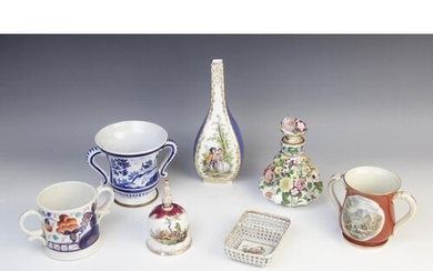 A selection of British and Continental porcelain, to include...