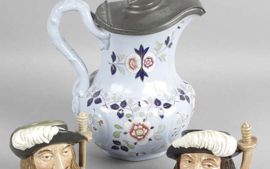 A selection of assorted glass and china wares, to include a hand painted part tea set decorated with birds together with a mixed selection of assorted pictures, to include three oil paintings by Lorna Langley