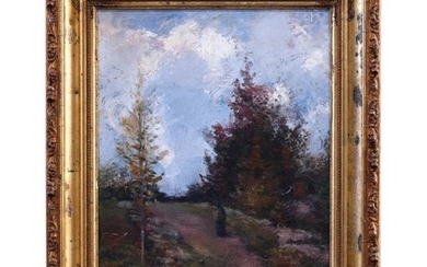 Antique Impressionist Painting, Late November by Jacobs