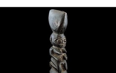 Antique West African Finely Carved Hard-wood Fertility Figur...