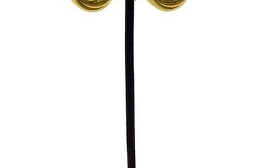 Chanel 1997 Fall Collection Gold CC Earrings