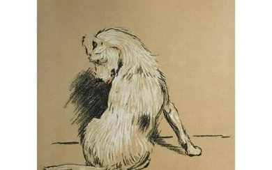 Early 1900's Cecil Alden, A Dog Day Lithograph