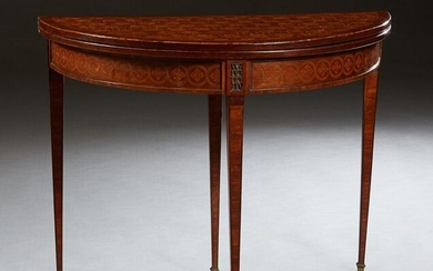 French Inlaid Mahogany Louis XVI Style Games Table