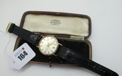 Garrard; A 9ct Gold Cased Automatic Gent's Wristwatch, the s...