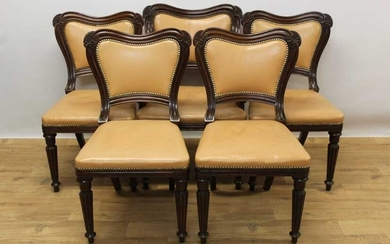 Good quality set of ten George IV mahogany dining chairs in the manner of Gillows