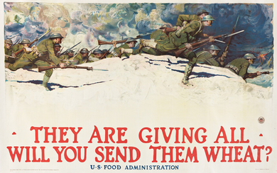HARVEY DUNN (1884 1952) THEY ARE GIVING ALL WILL YOU SEND