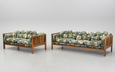 Ingvar Stockum, a pair of rosewood 'Monte Carlo' sofas from Futura, 1960's/70's.