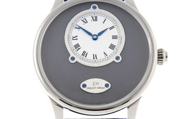 JAQUET DROZ - a limited edition gentleman's 18ct white gold Petite Heure Minute wrist watch.