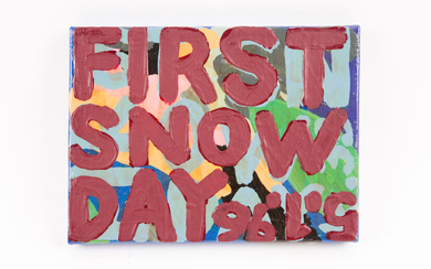 JAN SMEJKAL. Jan Smejkal, painting, 'First Snow Day', 1996.