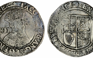 James I (1603-1625), First Coinage, Shilling, 1604-1605, second bust