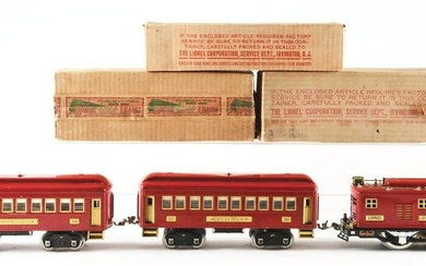 LOT OF 3: LIONEL STANDARD GAUGE RED NO. 8 WITH