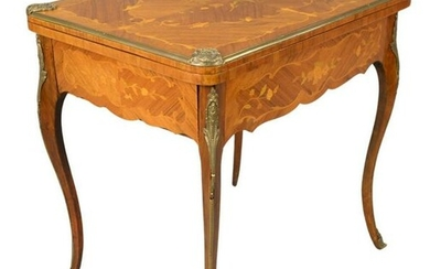 Louis XV Style Marquetry Inlaid Occasional Table