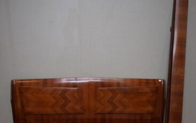 MID CENTURY ITALIAN ROSEWOOD BED BY OSVALDO BORSANI (A/F) (BEDHEAD 102H x 183W CM) (LEONARD JOEL DELIVERY SIZE: LARGE)